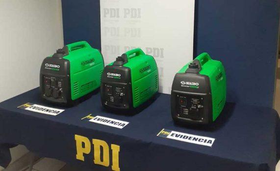 San Fernando: PDI recupera equipos electrógenos robados