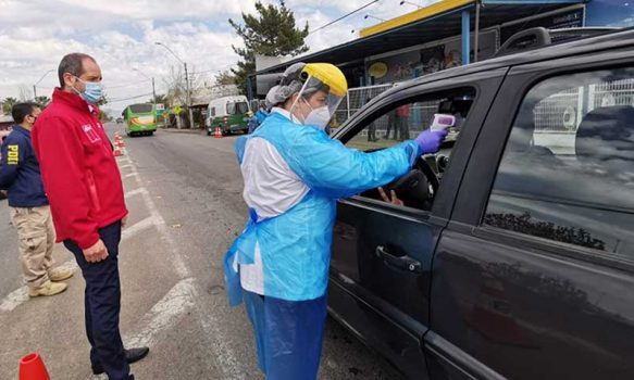 Santa Cruz: Senda O'Higgins realizó operativo sanitario por el COVID-19 con su ambulancia Tolerancia Cero