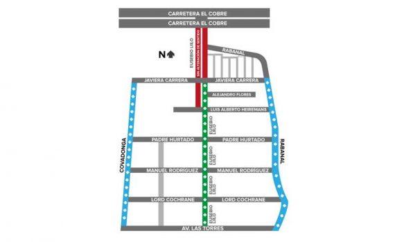 Calle Eusebio Lillo cambiará de sentido entre Avenida Las Torres y Javiera Carrera