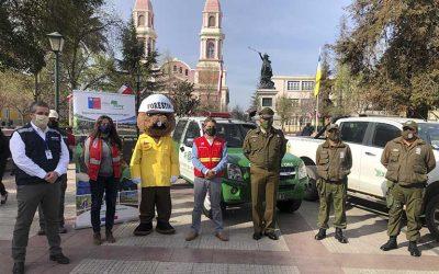 Conaf junto a Carabineros iniciaron el Plan de Protección sobre quemas controladas
