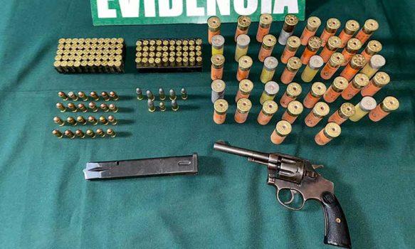 Durante un control rutinario Carabinero detuvo a sujeto con revolver y municiones
