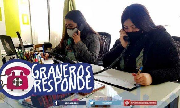 """""""Graneros responde"""" fono disponible para consultas municipales en medio de la pandemia"""