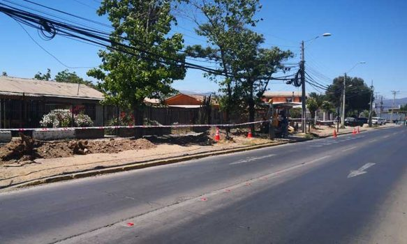Rancagua, municipio inicia mejoramiento de bandejón de Alameda en Población Siempre Unidos