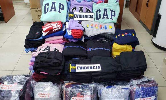 Rancagua: PDI detuvo a sujeto que se dedicaría a vender ropa falsificada a minoristas