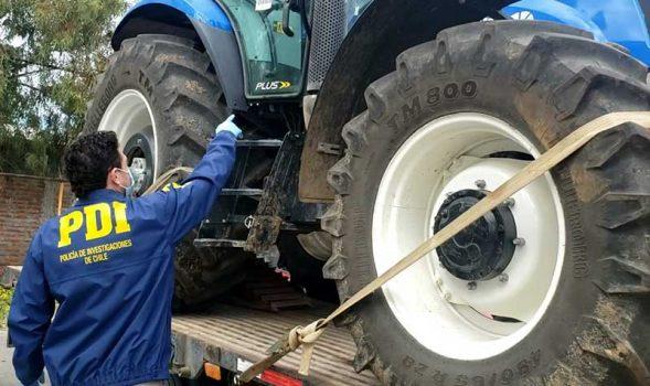 Rancagua: PDI recupera un camión y moderno tractor