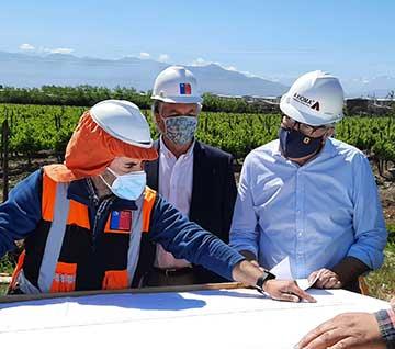 Rancagua: Seremi Obras Públicas y alcalde inspeccionan inicio obras de ampliación en pista de Ruta Travesía