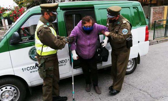 San Fernando: Carabineros traslada a los adultos mayores al local de votación
