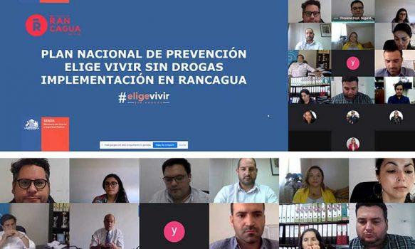 """Senda Previene Rancagua conformó la primera mesa comunal del plan nacional """"Elige vivir sin drogas"""""""