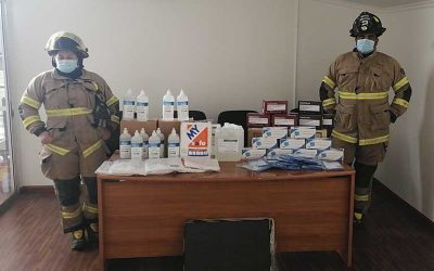 Mostazal: Segunda Compañía de Bomberos recibe aporte de Colbún para evitar contagios del COVID-19