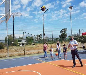 Rancagua: Nueva multicancha se inaugura en población San Pedro