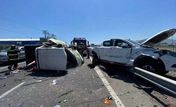 Requínoa: Accidente en carretera cinco sur
