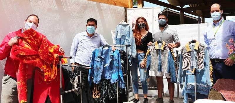 Requínoa: Emprendedora elabora prendas únicas con materiales reciclados