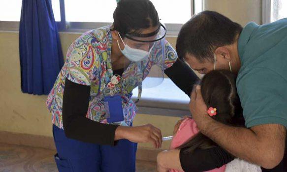 San Fernando vacuna a sus niños contra el sarampión