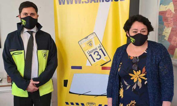 Servicio de Salud O'Higgins establece convenio colaborativo con Samu Metropolitano