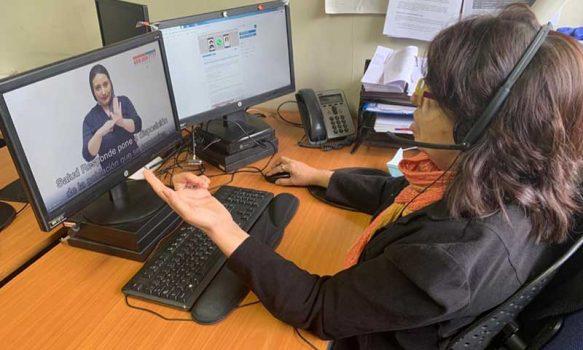Servicio Salud aborda lengua de señas en conversatorio con dirigentes de la salud