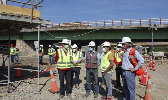 Subsecretario de Obras Públicas inspeccionó importantes avances de obras viales durante su visita a la Región