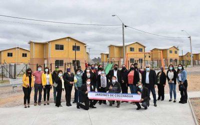 Tras años de espera familias del comité Jardines de Colchagua recibieron sus viviendas propias