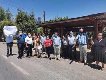 Chimbarongo: Seremi MOP O'Higgins y alcalde anuncian anhelada construcción de ciclovía de 9,6 km el 2021