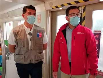 Controles no paran: Seremi de Salud fiscalizó Metrotren Santiago-Rancagua