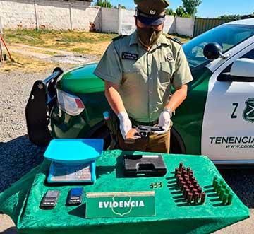 En Rancagua y Coltauco, Carabineros decomisaron gran cantidad de pasta base y marihuana