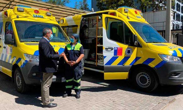 SAMU O'Higgins pone en servicio tres ambulancias en San Fernando, Rengo y Rancagua