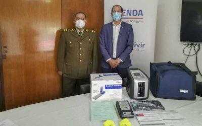 Senda O'Higgins entrega máquinas de narcotest a Carabineros de Chile