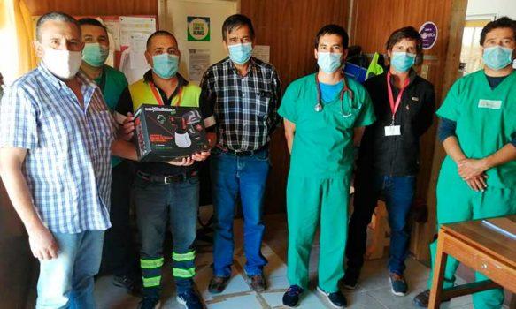 Donan equipo a Hospital de Pichilemu para sanitizar ambulancias