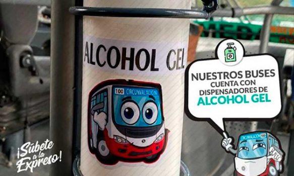 Empresa del transporte público de Rancagua instala dispensadores de alcohol gel en sus microbuses