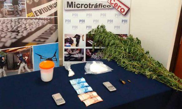 Las Cabras: PDI incauta en clorhidrato de cocaína avaluado en más de 19 millones