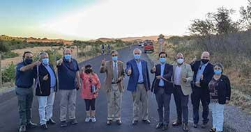 Seremi MOP O'Higgins y alcalde de Peralillo inauguran primeras pavimentaciones 2021 de caminos rurales