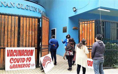 """Alcalde de Graneros: """"De aquí al próximo martes vacunaremos a todos los trabajadores de la educación"""""""