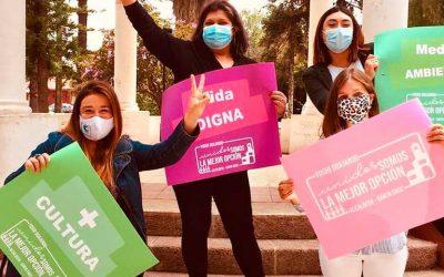 Candidatas del frente amplio lanzan su campaña en Santa Cruz