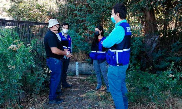 DGA O'Higgins visita en terreno a regantes de la segunda sección del río Cachapoal para enfrentar problemáticas del sector
