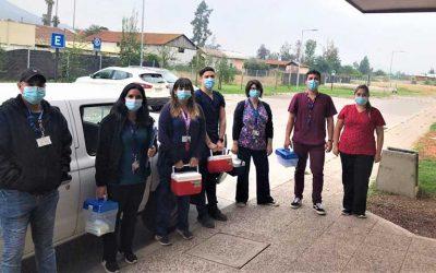 Hospital de Chimbarongo comenzó vacunación a usuarios de Dependencia Severa en sus domicilios