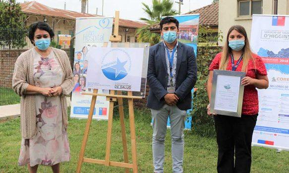 Hospital de Chimbarongo recibe placa de re-acreditación en Calidad
