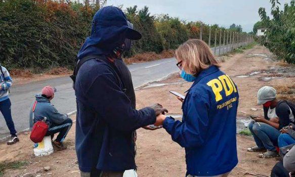 PDI denunció a 23 extranjeros en situación irregular