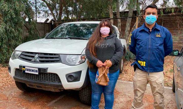 PDI Rancagua recupera camioneta robada en violento asalto a familia santiaguina