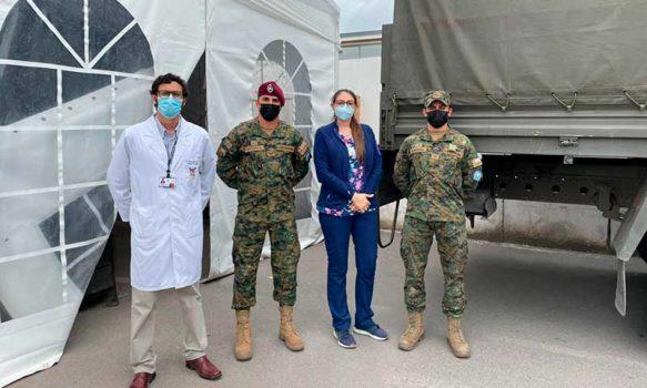 Reinstalan carpa modular de atención de Urgencia en Hospital de Santa Cruz