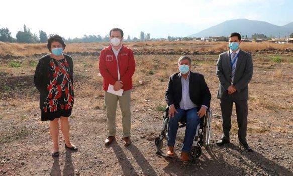 Autoridades visitan terreno del nuevo Hospital de Rengo