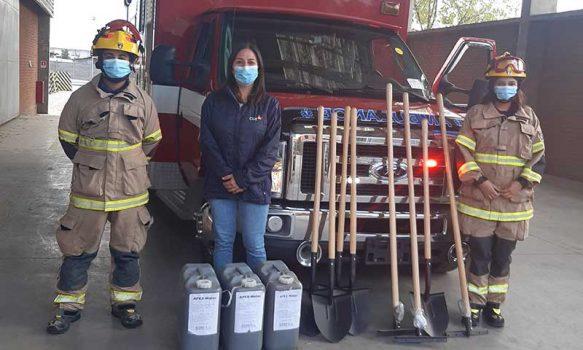 CGE entrega aporte en herramientas a bomberos de Chépica y Peumo