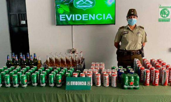 En San Fernando Carabineros incautaron venta clandestina de alcoholes en local comercial