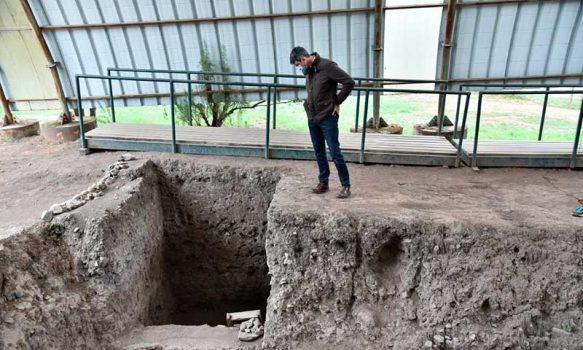 Ministro de Ciencia visitó sitio arqueológico Tagua Tagua y destacó el trabajo científico en la región de O'Higgins