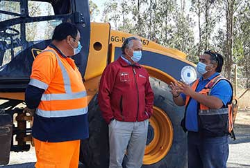 MOP O'Higgins avanza en compromisos de conectividad vial 2021 pavimentando camino Santa Mónica en Litueche
