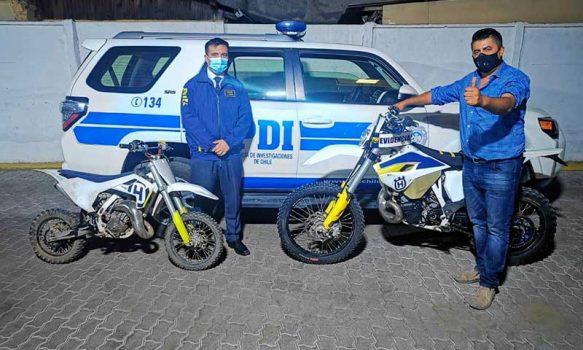 PDI recupera en Talca motos robadas en Doñihue