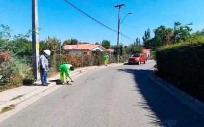 Se inició la instalación de cerca de 50 reductores de velocidad, en distintos sectores de Palmilla