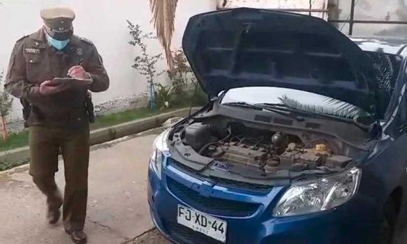 Vehículo robado fue recuperado por Carabineros en Machalí