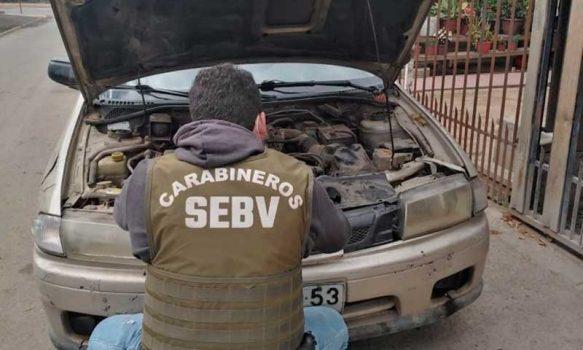 Carabineros de la SEBV encontraron auto robado en Rancagua