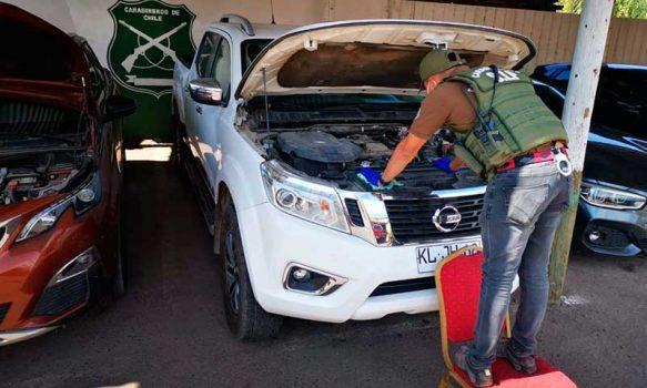 En Chépica Carabineros detuvo a tres personas por receptación de vehículos