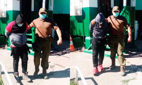 Fueron detenidos por robar nueces y Carabineros les encontró marihuana