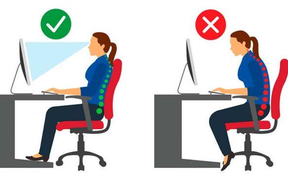 La importancia de una buena postura en el puesto de trabajo